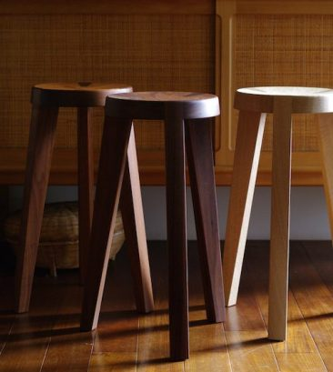 Kitchen stool / WN,OAK